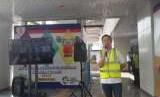 LRT dari Stasiun Velodrome menuju Stasiun Boulevard Utara. Pemprov DKI akan mengintegrasikan stasiun LRT dan bus Transjakarta di Rawamangun.