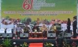 Talkshow bertema Sinergi dan Akselerasi Kejayaan Perkebunan di Gedung Sate, Bandung, Jawa Barat, Senin (10/12).