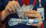 Teller Bank Tabungan Negara (BTN) menghitung uang rupiah. ilustrasi