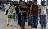 Tenaga Kerja Indonesia (TKI) ilegal dideportasi dari Malaysia.