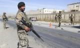 Tentara Afghanistan berjaga di Kabul, Afghanistan.