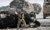 Tentara Amerika Serikat yang tergabung dalam Pasukan Bantuan Keamanan Internasional (ISAF) pimpinan NATO di Afghanistan, ilustrasi