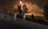 Tentara menjaga area pipa bahan bakar di Tlahuelilpan, Hidalgo, Meksiko, yang meledak dan memakan korban jiwa.