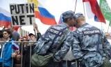 Demonstrasi kubu oposisi Rusia di Moskow. Kubu oposisi akan menggelar demonstrasi besar-besaran pada 29 Februari 2020.