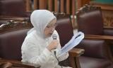 Terdakwa kasus dugaan penyebaran berita bohong atau hoaks Ratna Sarumpaet membacakan pledoi dalam sidang lanjutan di PN Jakarta Selatan, Jakarta, Selasa (18/6/2019).