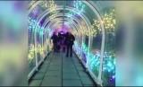 Terowongan plastik Bude Tunnel di Cornwall, Inggris.