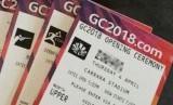 Tiket upacara pembukaan Commonwealth Games dicetak