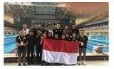 Tim renang Indonesia.