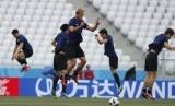 Timnas Jepang sedang melakukan latihan sebelum malakukan pertandingan di Piala Dunia 2018, Rusia