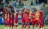 Timnas Qatar seusai menjalani laga.