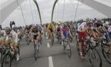 Lomba balap sepeda Tour de France (ilustrasi).