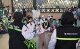 TPP memberikan penyuluhan kesehatan kepada para jamaah haji Indonesia yang tengah melakukan ibadah haji di Arab Saudi. Senin (8/7)