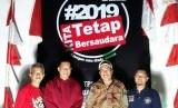 TPS 32 Sukarame Kota Bandar Lampung sediakan area swafoto bagi pemilih pada pesta demokrasi Pemilu 2019, Rabu (17/4).