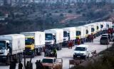Truk bantuan kemanusiaan untuk Idlib, Suriah.