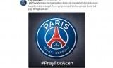 Ucapan belasungkawan Paris Saint-Germain kepada korban bencana gempa di Aceh melalui Twitter.