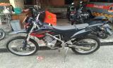 Unit motor Trail berjenis Kawasaki KLX raib digondol maling di Kantor BPBD Kota Bogor.