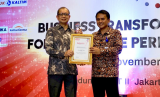 Vice President (VP) Corporate Secretary PT Patra Jasa, Gatot Subagio pada Rabu (6/11) lalu, di Gedung BPPT, Thamrin Jakarta menerima penghargaan  The Best Corporate Performance in Hotel and Property dalam ajang Indonesia BusinessNews Awards (IBA) .