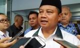 Wagub Jabar Uu Ruzhanul Ulum di Kabupaten Ciamis, Senin (17/2).