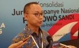 Wakil Ketua Badan Pemenangan Nasional (BPN) Prabowo-Sandiaga  Eddy Soeparno di Hotel Sultan, Jakarta, Jumat (15/3).