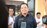 Wakil Ketua MPR Mahyudin  menyampaikan materi sosialisasi 4 pilar MPR RI di Kecamatan Waru, Penajam Paser Utara, Kalimantan Timur, Senin (11/3).
