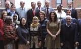 Wakil Ketua Muhammadiyah Disaster Management Centre (MDMC) PP Muhammadiyah, Rahmawati Husein (hijab kuning tengah), di Sidang Dewan Pengarah Badan Perserikatan Bangsa-Bangsa untuk Dana Tanggap Darurat Global (AG UNCERF) di Dublin.