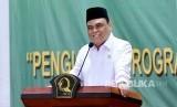 Wakil Ketua Umum Dewan Masjid Indonesia Drs. Syafruddin melantik dan mengambil sumpah pengurus wilayah DMI Kalimantan Barat masa hikmat 2018-2023, Selasa (18/12).