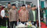 Wakil Presiden Jusuf Kalla menghadiri acara hari lahir (harlah) Partai Kebangkitan Bangsa (PKB) ke-21 di Kantor Pusat DPP PKB, Jakarta Pusat, Selasa (23/7).