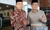 Wali Kota Bandung Ridwan Kamil bersilaturahmi dengan Gubernur NTB TGH Muhammad Zainul Majdi di kantor Gubernur NTB, Jalan Pejanggik, Mataram, NTB, Kamis (13/7).
