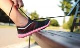 Wanita lari joging