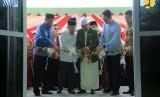 Wapres Jusuf Kalla pada acara Peresmian Rusun Ponpes Darud Da'wah Wal Irsyad (DDI) Mangkoso, di Kelurahan Mangkoso, Kecamatan Soppeng Riaja.