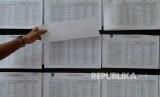 Ilustrasi warga mencari namanya di Daftar Pemilih Sementara (DPS).