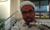 Wasekjen Pemenangan Pemilu Golkar Ali Mochtar Ngabalin di Mabes Polri, Kamis (23/11).