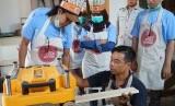 Yayasan Baitul Maal (YBM) PLN meresmikan Workshop Place Wooder Creative untuk membantu kemandirian ekonomi dhuafa di Jalan Kesadaran II, Pondok Petir, Kota Depok, Rabu (11/9).