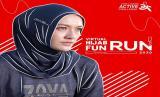 Zoya menggelar hijab virtuan run