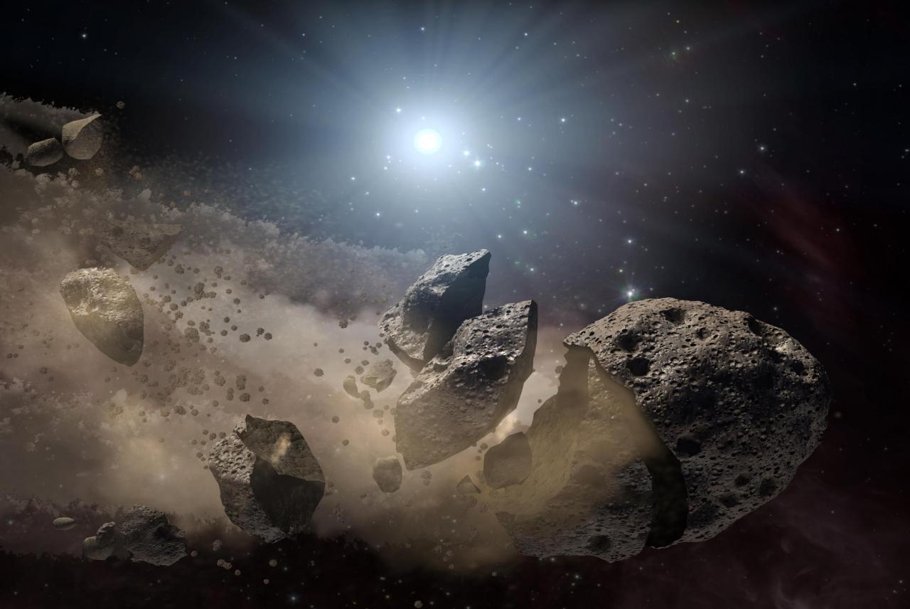 Asteroid Mengitari Bulan