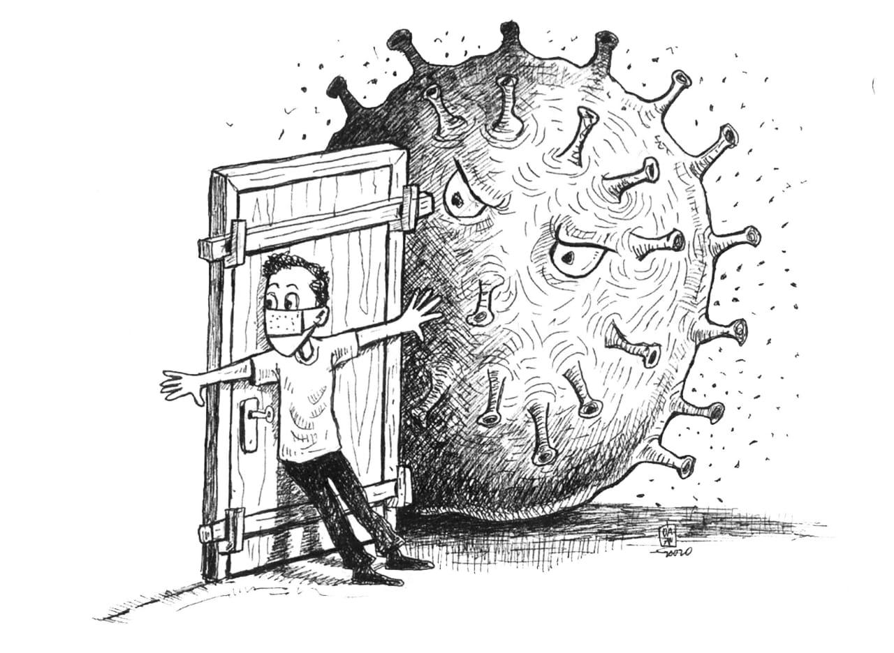 Karikatur Lockdown Corona Republika Online