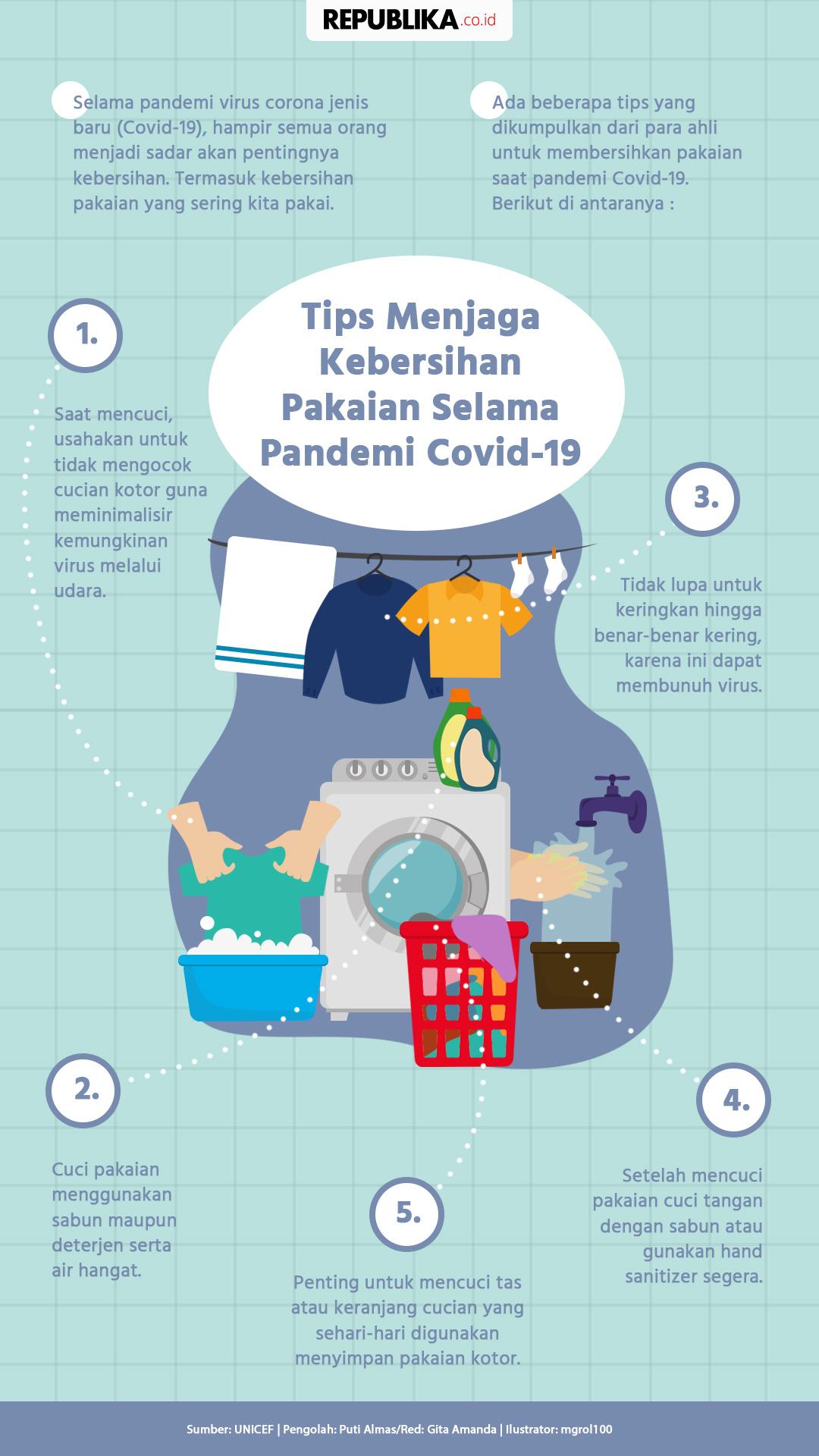 Tips Menjaga Kebersihan Pakaian Selama Pandemi Covid 19 Republika Online Cara mencuci pakaian yang benar